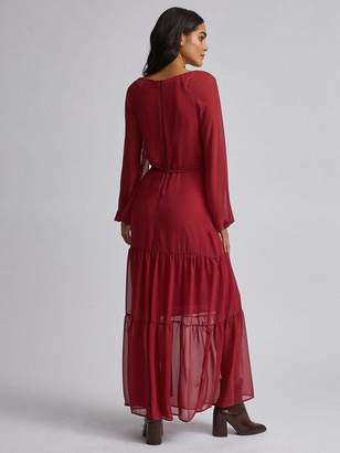 Dorothy Perkins Tiered Maxi Dress - Berry Red