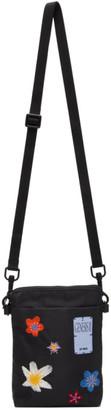 McQ Black Hyper Flowers Cross Body Bag