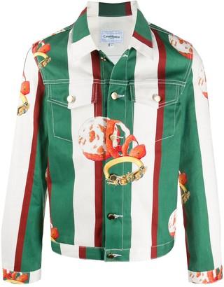 Casablanca Hand-Painted Denim Jacket
