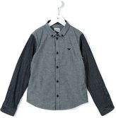 Armani Junior contrast chambray shirt
