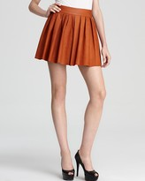 Alice + Olivia Skirt - Exclusive Box Pleat Leather
