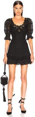 Jonathan Simkhai Crochet Lace Mini Dress in Black | FWRD