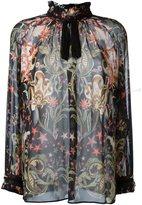 Roberto Cavalli ruffle neck blouse - women - Silk - 42