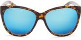 Quay About Last Night Mirrored Cat Eye Sunglasses, 58mm