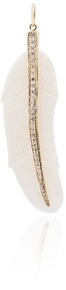 Jacquie Aiche 14kt Yellow Gold Feather Diamond Necklace