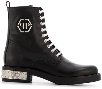 Philipp Plein Low Stud Boots