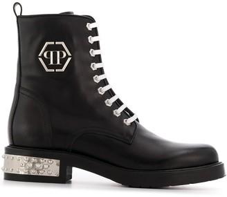 Philipp Plein Low Stud Boots