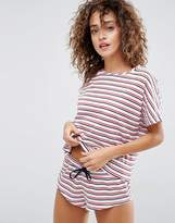 Asos Stripe Tee & Hot Pant Pajama Set