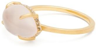 Susan Foster Diamond, Rose Quartz & 18kt Gold Ring - Gold