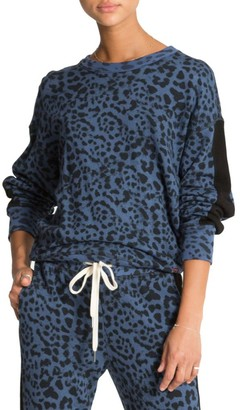n:philanthropy Azure Leopard Print Sweatshirt