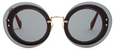 Miu Miu Reveal round-frame sunglasses