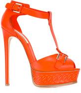 Casadei platform sandals - women - Leather - 35
