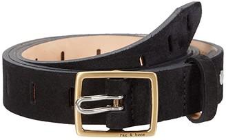 Rag & Bone Sidekick Belt (Black Suede) Women's Belts