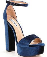 Steve Madden Gonzo Velvet Ankle Strap Platform Sandals