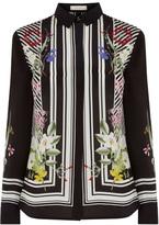 Oasis Silk Stripe Floral Shirt