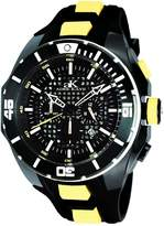 Adee Kaye Men's Grid 54.94mm Silicone Band Steel Case Quartz Watch Ak6367-Yl