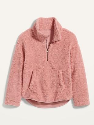 Old Navy Loose Cozy Sherpa Half-Zip Sweatshirt for Women