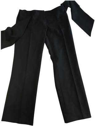 Sara Berman \N Black Wool Trousers for Women