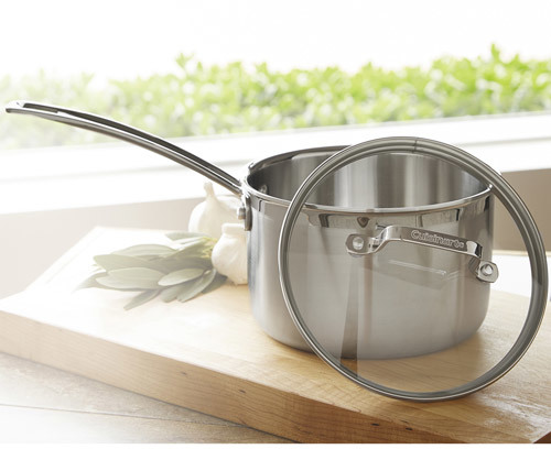 Cuisinart MultiClad Professional Saucepan with Glass Lid
