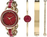 Anne Klein Women's Quartz Metal and Alloy Dress Watch, Color:Red (Model: AK/2750BYST)