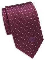 Versace Diamond Pattern Silk Tie