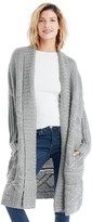 Sole Society Collared Cable Knit Cardigan
