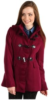 Kensie Hooded Toggle Front Coat (Magenta) - Apparel