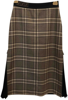 Fendi Beige Wool Skirt for Women