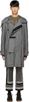 Sacai Grey Canvas Hooded Coat
