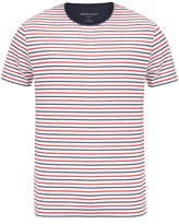 Derek Rose Alfie 3 Red Cotton Striped T-Shirt