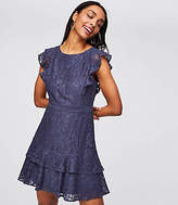 LOFT Petite Lace Flutter Dress
