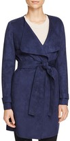 Via Spiga Faux Suede Wrap Coat