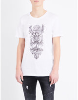 Balmain Aboriginal-print Cotton-jersey T-shirt