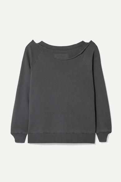 Nili Lotan Luka Cotton-jersey Sweatshirt - Dark gray