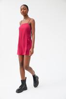 Urban Outfitters Palermo Straight Neck Slip Mini Dress