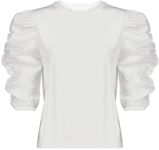 See by Chloe Cotton jersey and poplin top