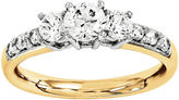 MODERN BRIDE 1 3/4 CT. T.W. Diamond 14K Gold 3-Stone Ring