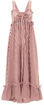 Thierry Colson Valentina Striped Cotton-poplin Maxi Dress - Womens - Brown Stripe