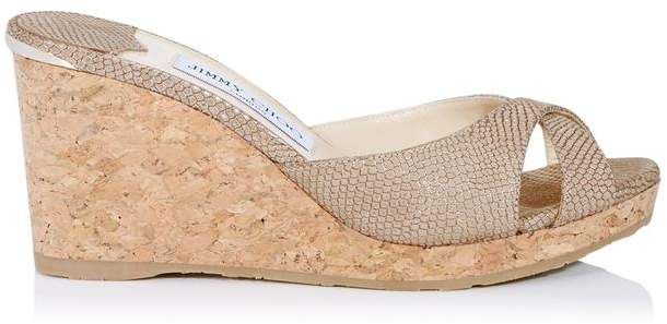 Jimmy Choo Almer 80 Wedge Mules