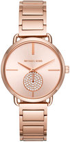 Michael Kors Women's Portia Rose Gold-Tone Stainless Steel Bracelet Watch 36mm MK3640
