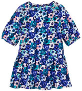 Gymboree Blue & Pink Floral Drop-Waist Dress - Infant & Toddler