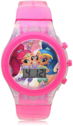 SHIMMER AND SHINE Shimmer And Shine Girls Digital Pink Strap Watch-Sns4029jc