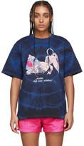Misbhv Blue and Black Tie-Dye The Tokio Club Wear T-Shirt