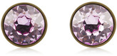 Givenchy Small Round Earrings In Lacquered Pewter And Purple Crystal - one size
