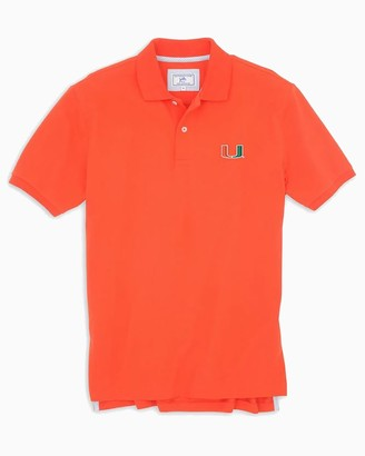 Southern Tide Miami Hurricanes Pique Polo Shirt