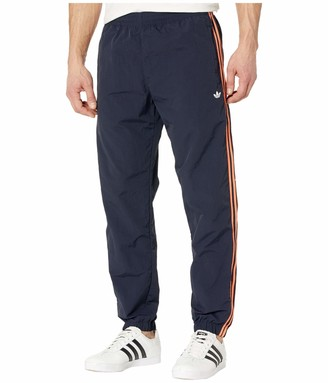 adidas Men's 3-Stripes Wind Pant Legend Ink/Signal Coral X-Small