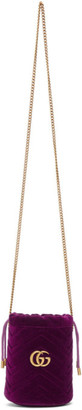 Gucci Pink Mini Velvet GG Marmont Bucket Bag