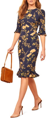 Reformation Hansel Floral Sheath Dress