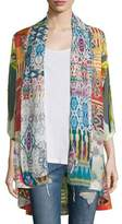Johnny Was Mix-Print Kimono Jacket, Plus Size