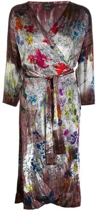Avant Toi Floral Print Wrap Dress